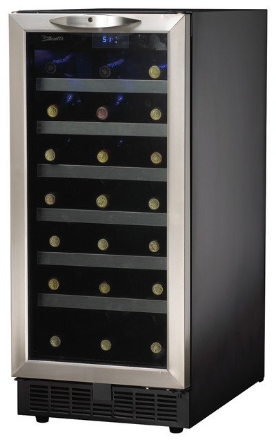 34-Bottle, Built-In Wine Cooler contemporary-beer-and-wine-refrigerators
