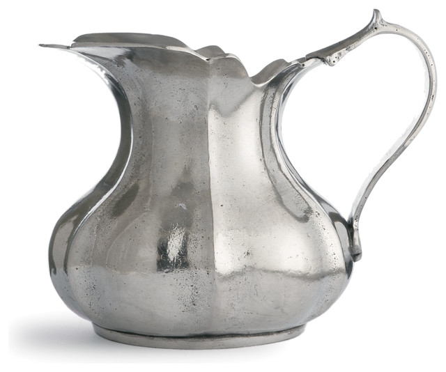 Vintage Small Scalloped Pitcher traditional-pitchers