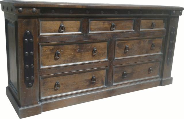 Durango 7 Drawer Dresser Rustic Dressers Denver By Mountain High Furniture
