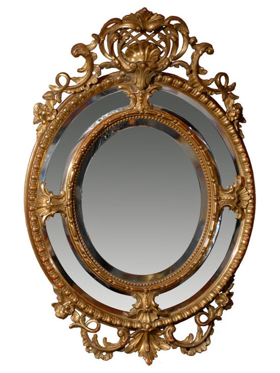 Current Inventory for Purchase - Oval Gilt Mirror