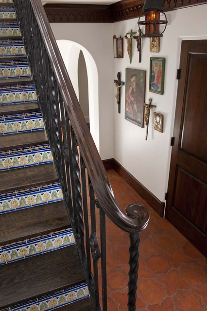 Spanish Colonial Remodel mediterranean-staircase