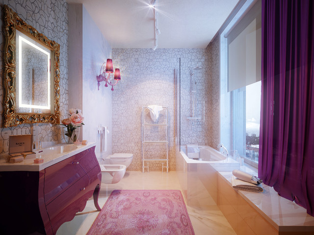 PENTHOUSE st. Gilyarovskogo - contemporary - bathroom - other ...