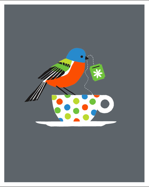 Hybrid-Home Limited Edition Print - Painted Bunting modern artwork
