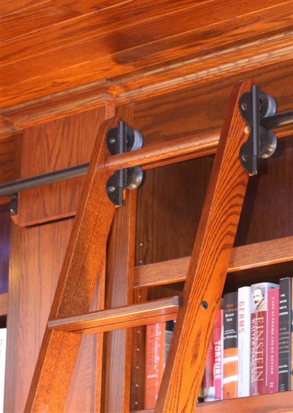Rolling Library Ladder ladders-and-step-stools