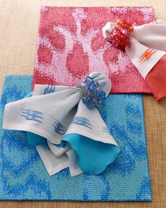 Kim Seybert Four Pop Napkin Rings traditional-napkins