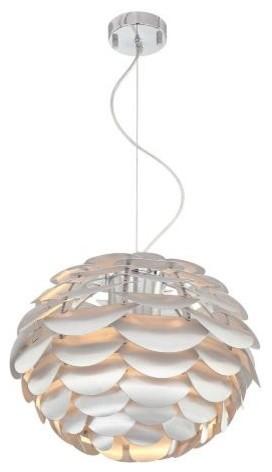 Possini Euro Design Metal Petal Pendant Ceiling Light contemporary-pendant-lighting