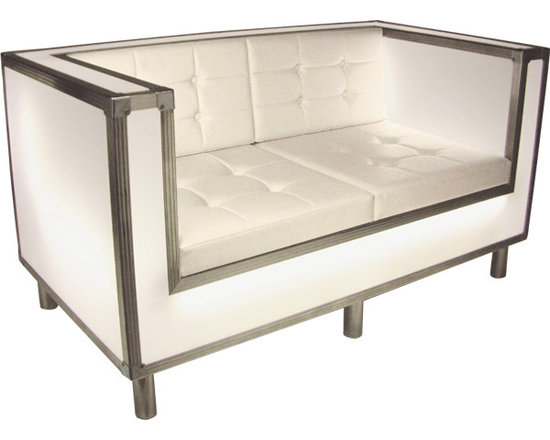 Scene Furniture - Contemporary Light Furniture - The Coron loveseat is a very unique, self illuminating luxury model that epitomizes contemporary furniture.
