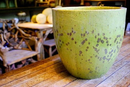 Swamp Glaze Container contemporary-outdoor-pots-and-planters