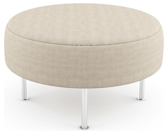 """Mento 36"""" Round Bench – Thin - The thinner top offers adequate support whether sitting or laying on this versatile piece. With optional tufting and quilting, you can create the exact modern bench you want.Viesso designs and manufactures this piece of modern furniture. All of the benches from Viesso, along with the sofas and sectionals, are built one at a time in Los Angeles in 3 weeks. With all the custom options available, they are truly built for you and your space.  A custom bench that's also an eco bench. Yes, it's that good."""
