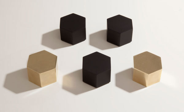 Hex Paperweight modern desk accessories