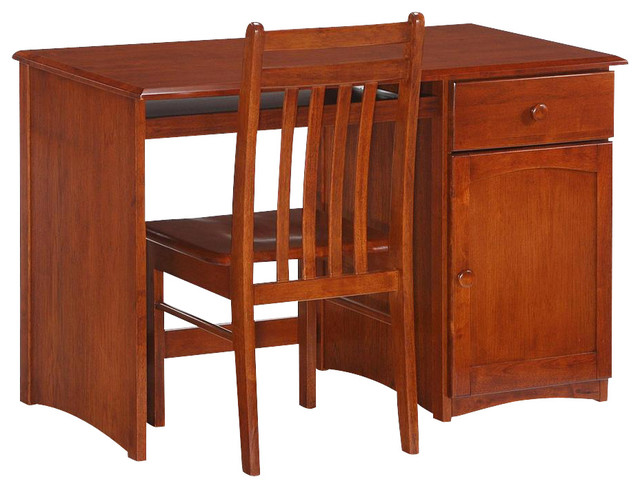 wood student desk in cherry finish transitional kids decor by