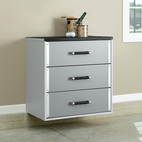 Sauder Tuff Duty 3 Drawer Base Cabinet - Contemporary - Storage Cabinets - by Hayneedle