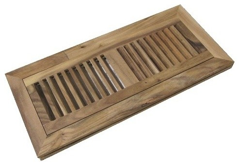Acacia Unfinished Wood Floor Flush Mount Vent Register