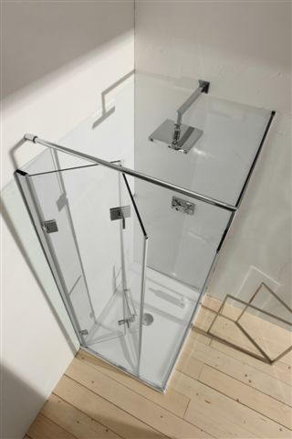 GLASS INFOLD DOOR contemporary showers