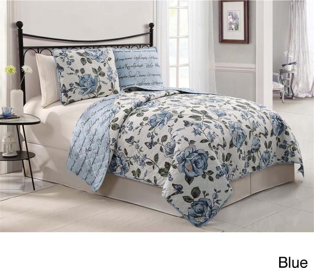 Bella 3-piece Quilt Set contemporary-quilts