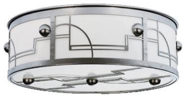 Meyda Tiffany Art Deco/ Retro Four-Light Flush Mount Ceiling Fixture contemporary-flush-mount-ceiling-lighting