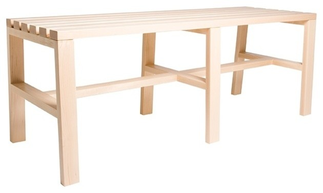 Slatted Bench 2, Clear Lacquer Maple contemporary-indoor-benches
