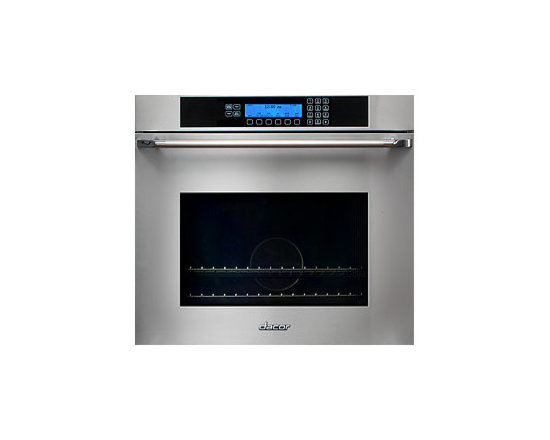 "Dacor 30"" Single Electric Wall Oven, Black Glass W/ Black Handle 