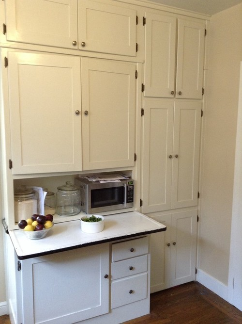Which door style 1920s house for Barker kitchen cabinets