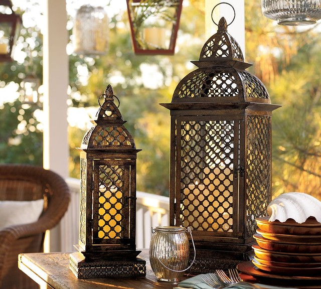 Casablanca Filigree Metal Lanterns eclectic-candles-and-candle-holders