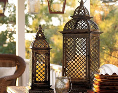 Casablanca Filigree Metal Lanterns eclectic-candles-and-candleholders