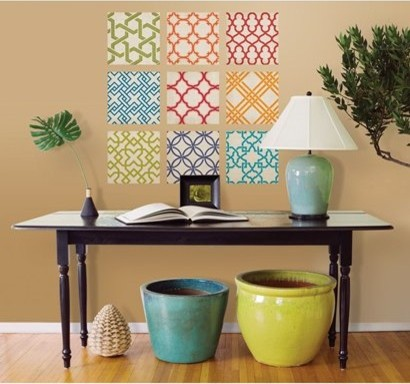 Bright Patterns Tile Wall Decals modern-wall-decals