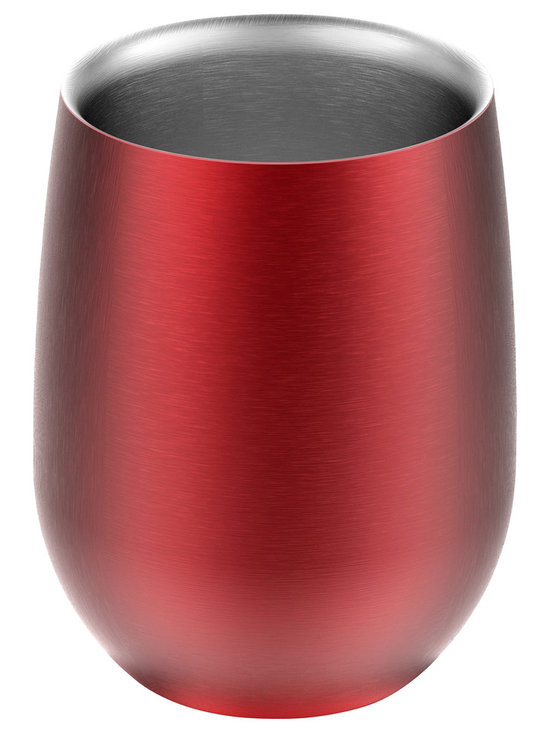Adnart - Imperial Wine Glass - Red - Vacuum insulated stainless steel cup. No chillers. No mess, no faster way to keep wine cold longer.