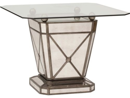 mirrored glass top table eclectic dining tables by