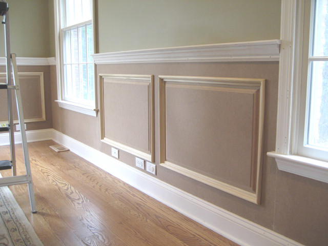 Raised panel wainscoting traditional new york by jl