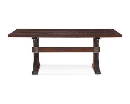 Saloom Furniture - Saloom Furniture | Tremont Rectangular Extension Oak Dining Table - Design by Peter Francis.