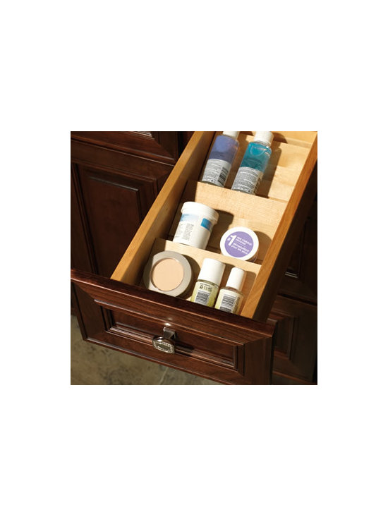 Vanity Drawer Storage Kit - The angled tray enables easy identification and removal of small items, such as cosmetics, lotions, and nail polish.