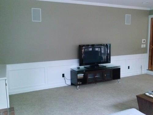 Wall Art Behind Flat Screen Tv : Big empty wall behind flat screen tv need ideas