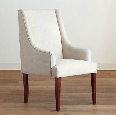 Linen Hayden Dining Chair modern dining chairs and benches