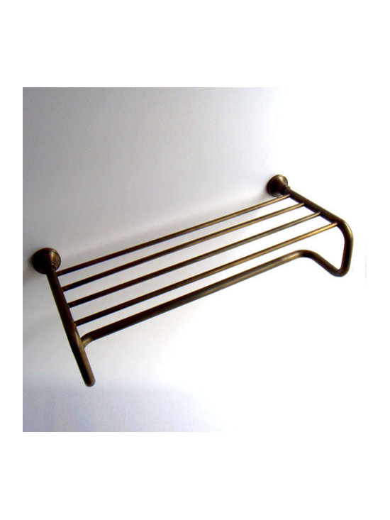 "24"" Antique Brass Bathroom Towel Bar With Shelf - ●24"" Antique Brass Bathroom Towel Bar With Shelf FG-601"