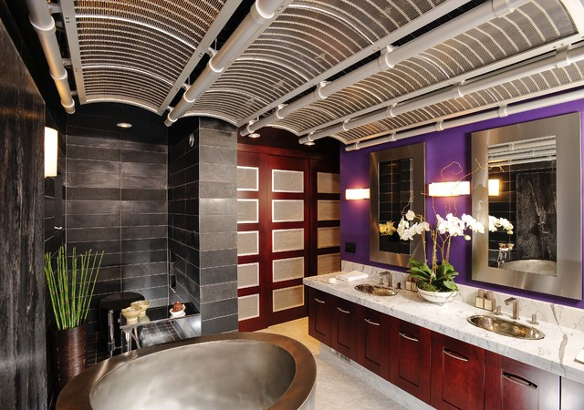 Asian Bath by Danenberg Design - Featured in Gentry Design & other publications asian-bathroom
