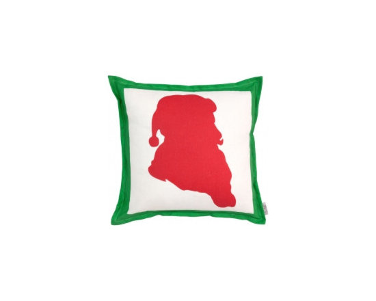 Saint Nick Pillow, Kelly/Ruby, Right - I love these Santa Silhouette pillows by Tobi Fairley.