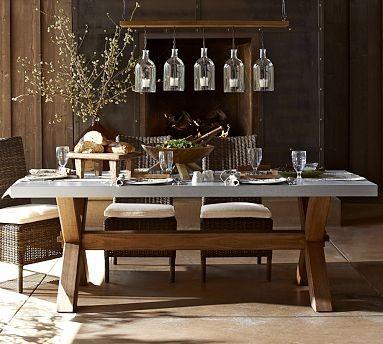Abbott Rectangular Zinc Top Dining Table 84