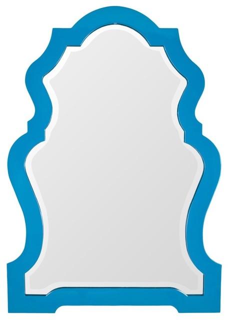 Lacquer Decorative Mirror, Blue Moon contemporary-mirrors