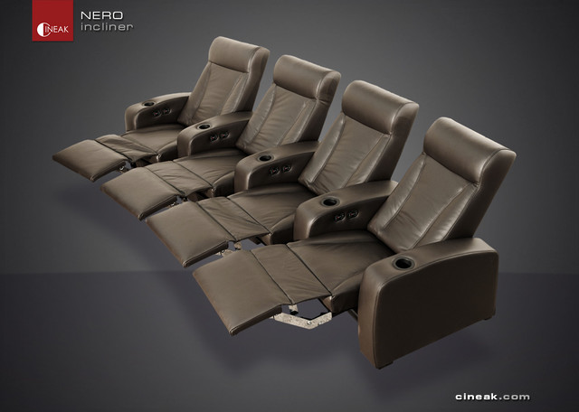 Media Room Seating by Cineak Nero sectional sofas other metro