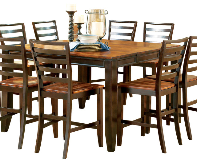 ... Silver Abaco Counter Height Table with Leaf traditional-dining-tables