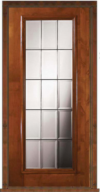 Prehung exterior single door 80 alder french full lite for Prehung french doors