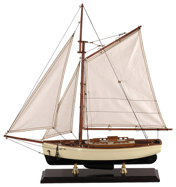 Authentic Models AS134 1930s Classic Yacht, Small traditional-home-decor