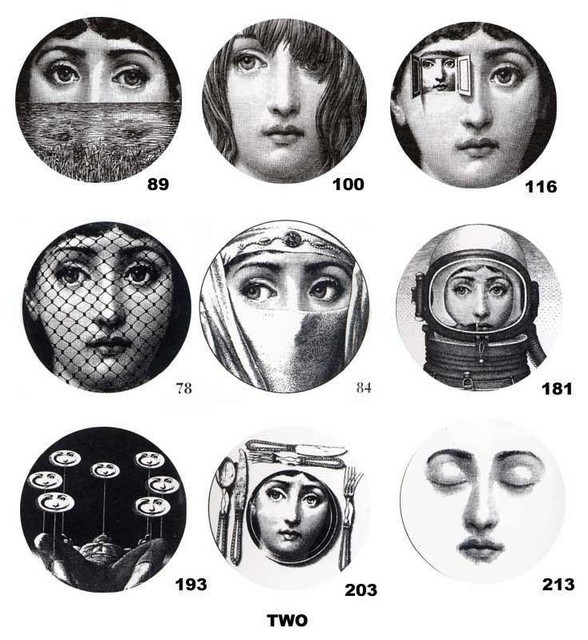 Theme And Variations Plates By Piero Fornasetti modern plates