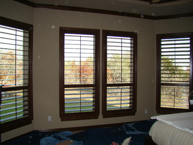 Plantation shutters Dallas TX eclectic window treatments