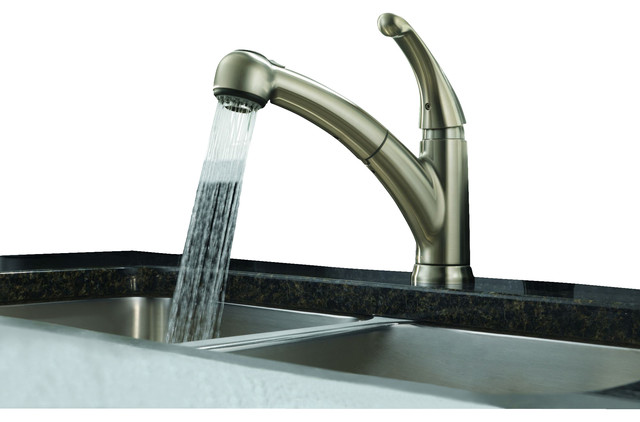 Palo Single Handle Kitchen Faucet With Pull-Out Spray