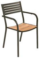 Segno Iroko Wood Arm Chair By Emuamericas contemporary-outdoor-chairs