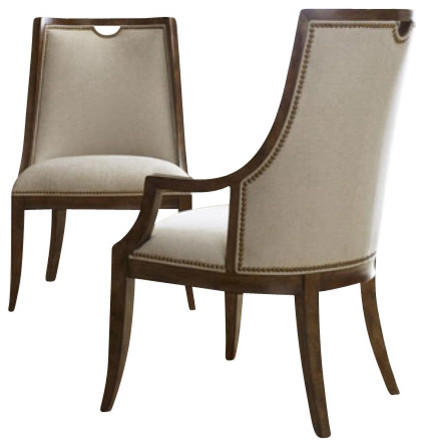 Sunset canyon upholstered chair contemporary dining for Upholstered dining chairs contemporary
