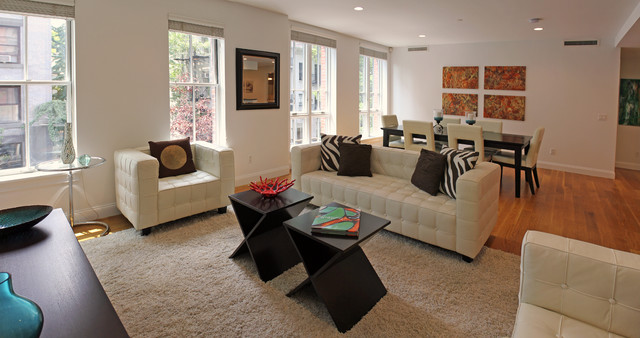 Staging in Manhattan contemporary-living-room