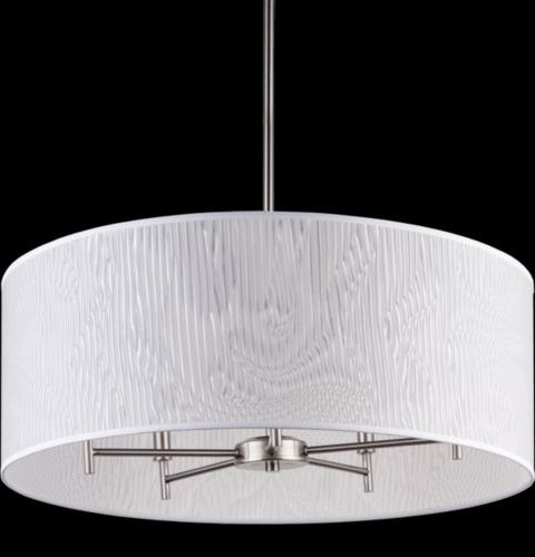 Modern Arm Chandelier: Walker 5-Arm Drum Chandelier