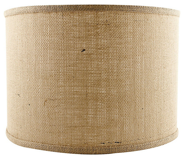 "Drum Pendant Replacement Shade - Document Brown 18"" traditional-lamp-shades"